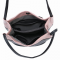 JUST LUV Medium Shoulder Bag- Black/ Light Pink /LUV MY BAG